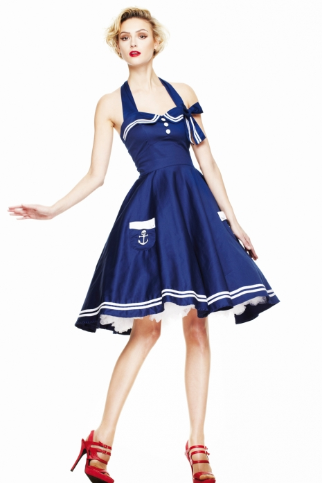 Motley 50's Dress Navy