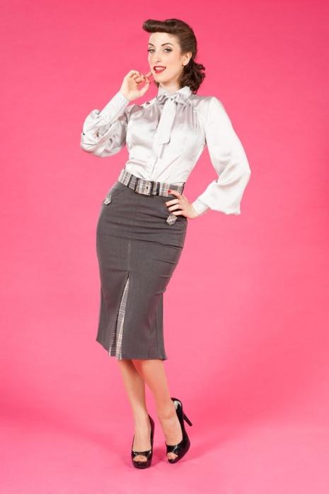 Bertha-Silver Skirt