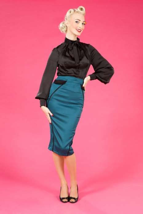 Itzel-Kat - Pencil skirt with pockets