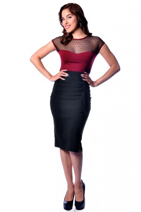 Ruffle Sarina Skirt Black