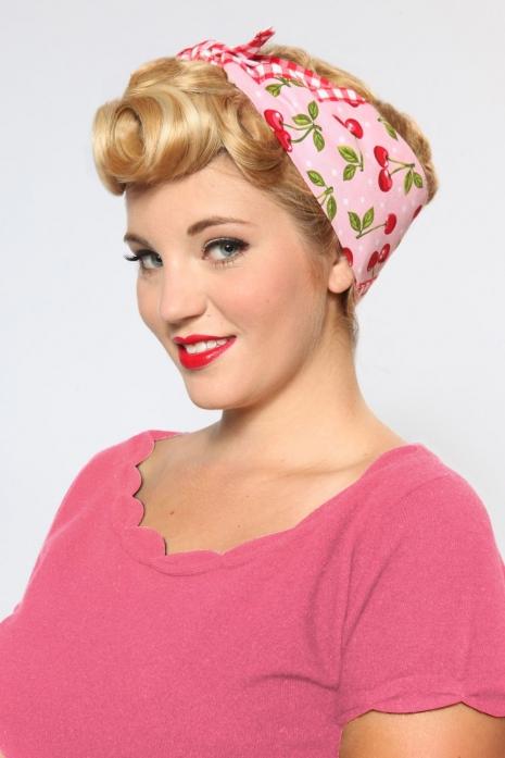 Rosie Bandana Pink Cherry