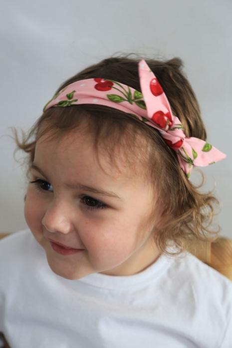 Pink Cherry Baby Headband
