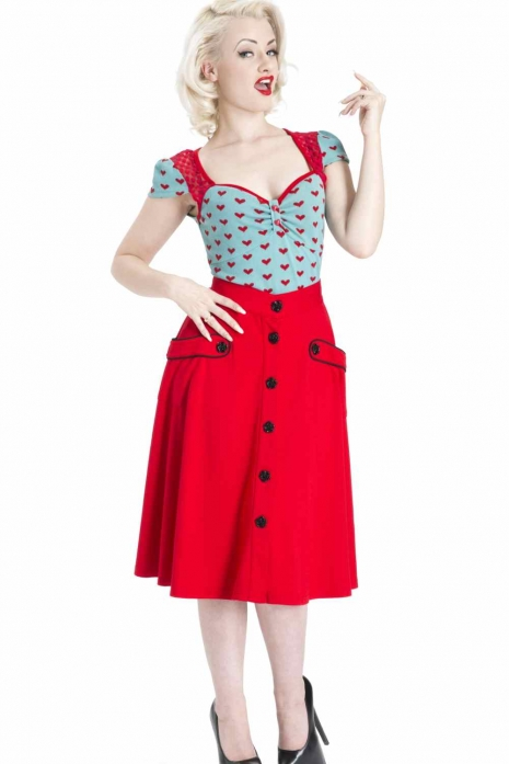 Red Rockabilly Skirt