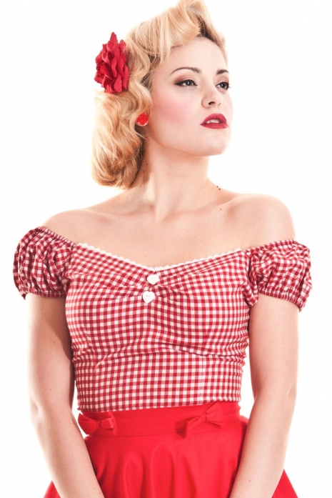 Dolores Gingham Top
