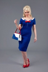 Audrey Dress Blue