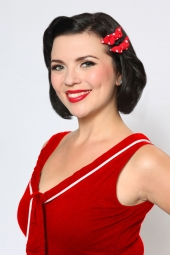 Red & White Dottie Bow
