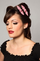 Red Gingham Cute Knotted Bows