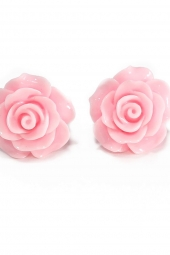 Pink Roses Earrings