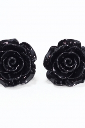 Black Roses Earrings