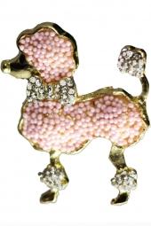 Pink Poodle Brooch