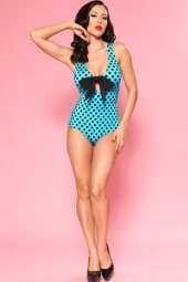 One Piece Bow Turquoise