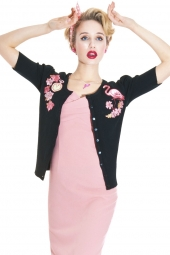 Katie Flamingo Cardigan