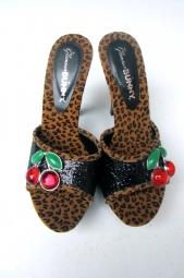 Black  Glitter Leopard