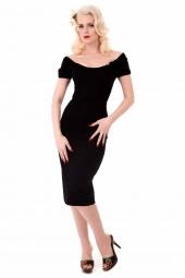 Brigitte Retro Dress Black
