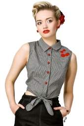 Tara Cherry Gingham Top